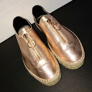 Alexander Wang Rose gold metallic sneakers